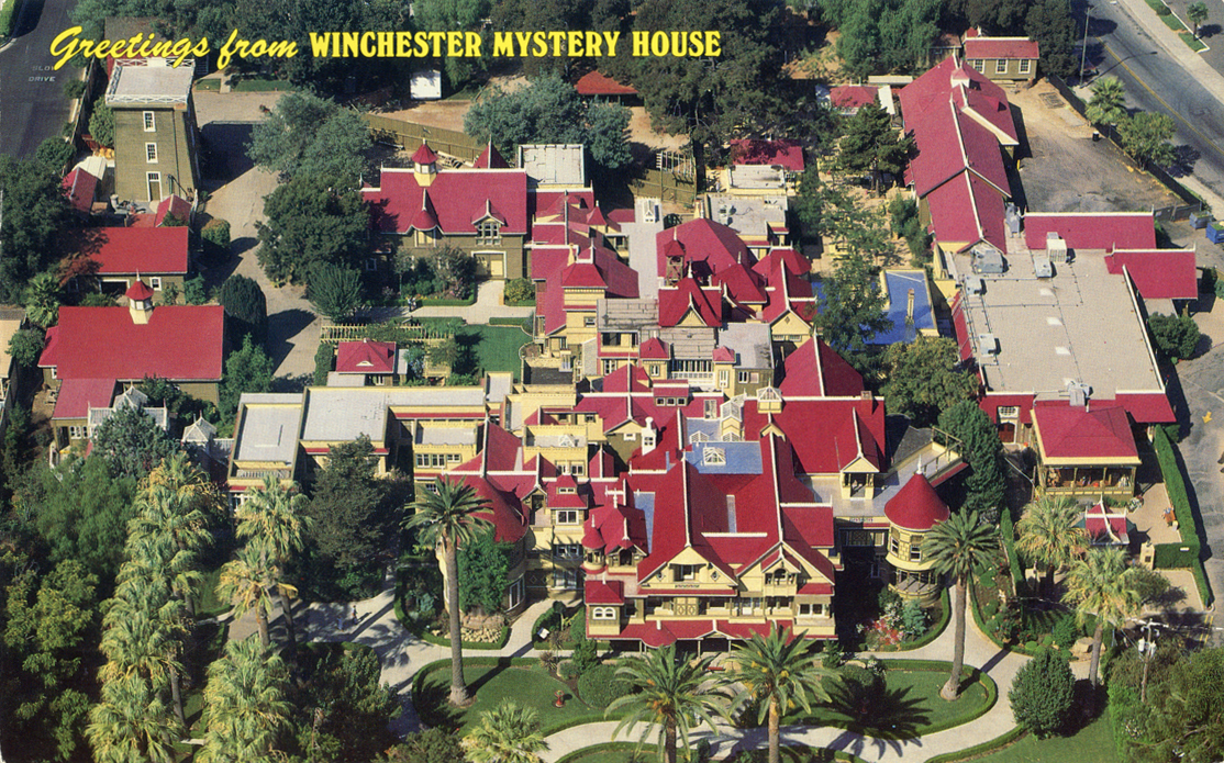 Charming The Winchester Mystery House From Above, As It Looks Today.